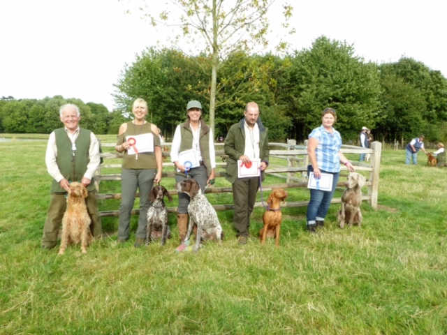 The 'Geoffettes' - with awards from various classes, HWVA GWT at Widmerpool , 4 Sep 2016